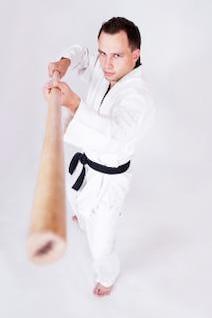 deportista, taekwondo, kwon