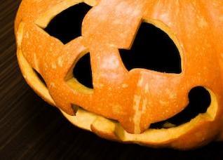 Calabaza de Halloween, oscuro