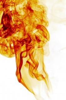 el humo, la forma, la curva