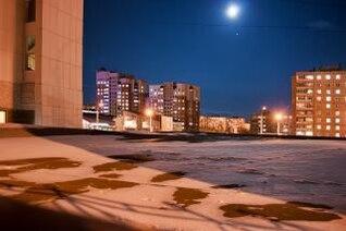 noche de la ciudad la arquitectura