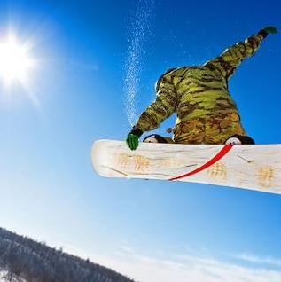 snowboarder saltar