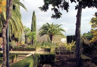 los jardines de la Alhambra de Granada