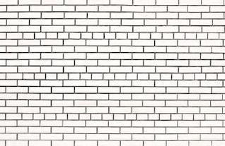 blanca pared de ladrillo de la pared