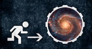 Space Escape grunge signo