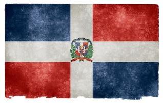 República Dominicana grunge bandera amarilla