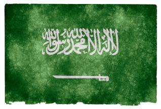 saudi arabia bandera del grunge