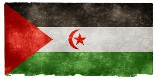 sahara occidental grunge bandera