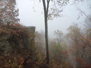 niebla vista desde el acantilado