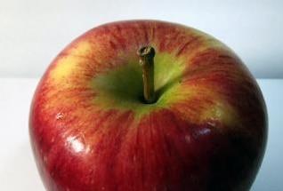 jugosa manzana roja