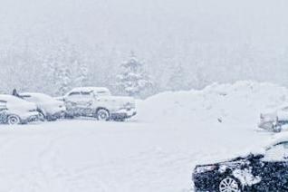 tormenta de nieve que cae