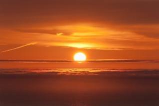 salida del sol de color