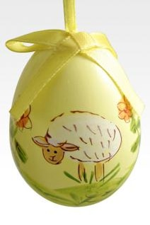 huevo de pascua amarillo