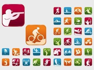 Vectores de eventos deportivos olímpicos de colores