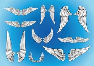 vector de las alas del arte