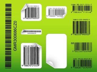 Plantillas de vectores de etiquetas de código de barras del producto