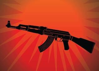 Ak automático vector arma criminal
