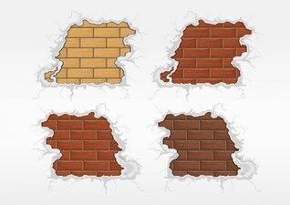 Apartamento arquitectura paredes de ladrillo vector