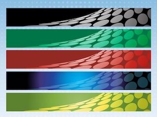 Medios tonos coloridos fondos de banners paquete