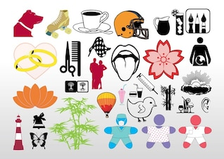 fresco vector clipart pack