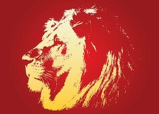 león vector cara