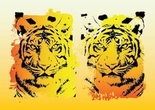 los tigres de gráficos vectoriales
