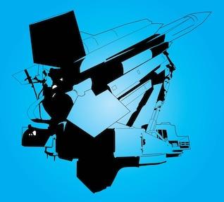 gráficos del transbordador espacial