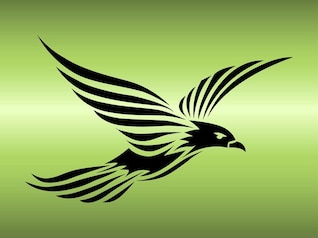 Plantilla de animales tatuaje águila fresca