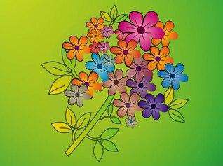 Flor colorido vector ramo