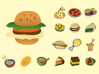 Sabroso vector deliciosa comida de dibujos animados