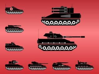 artillería de arma de máquinas de vectores