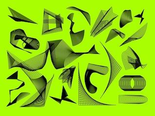 Geométricas formas modernas del vector abstracto