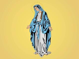 María, madre de Jesús vector