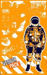 Grunge astronauta sucio textura