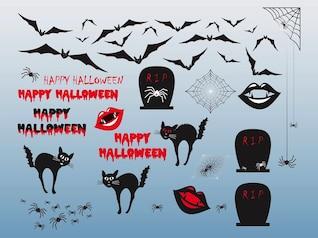 Objetos y personajes de Halloween