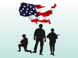 Bandera vectores de armas militares Usa