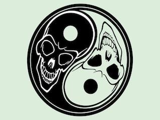 Halloween de yin yang vector