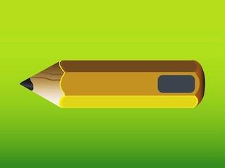 Papel de madera del lápiz icono del vector