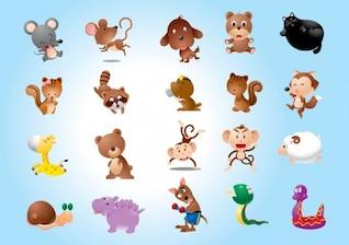 personajes de vectores animales