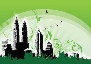 Petronas Twin Towers ilustración