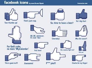Iconos vectoriales facebook impresionantes frescos