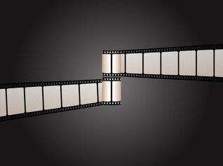 Tiras de película retro de equipos de cine
