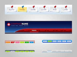 Website menu template Colorful