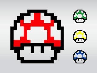colorido juego de Super Mario vector