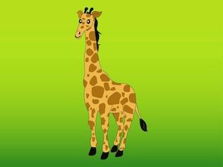 Jirafa africana vector carácter animal
