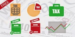 Pack de iconos de vector de impuestos