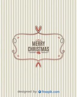 Pancarta de Feliz Navidad con fondo rayado