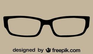 Gafas retro clásicas rectangulares alargadas