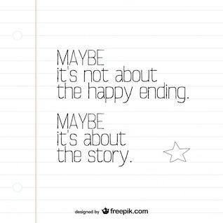 Hoja de cuaderno con mensaje de tarjeta de motivación minimalista