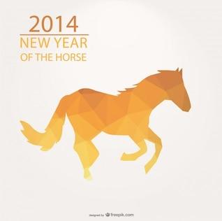 2014 año del caballo diseño de triángulos amarillos