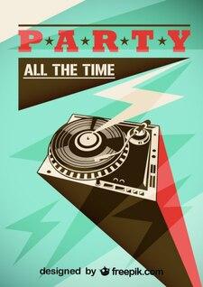 Diseño de cartel para fiestas, formato vectorial